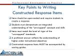 key points to writing constructed response items