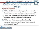 module 3 quality assessment design