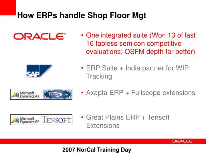 How ERPs handle Shop Floor Mgt