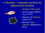 4 nutrition essential nutrients for optimal brain function