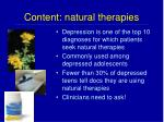 content natural therapies