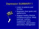 depression summary 1