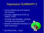 depression summary 2