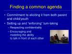 finding a common agenda