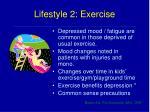 lifestyle 2 exercise