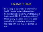 lifestyle 3 sleep