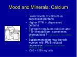 mood and minerals calcium