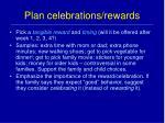plan celebrations rewards
