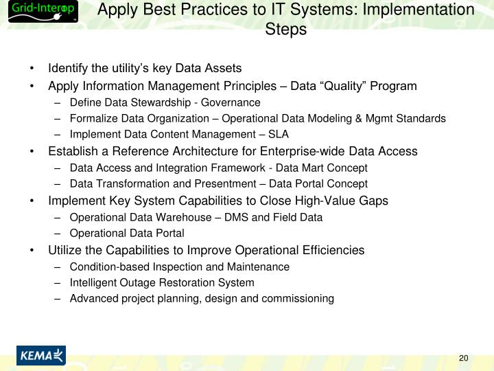 Apply Best Practices to IT Systems: Implementation Steps