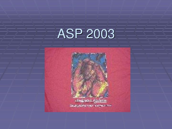 ASP 2003