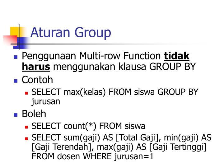 Aturan Group