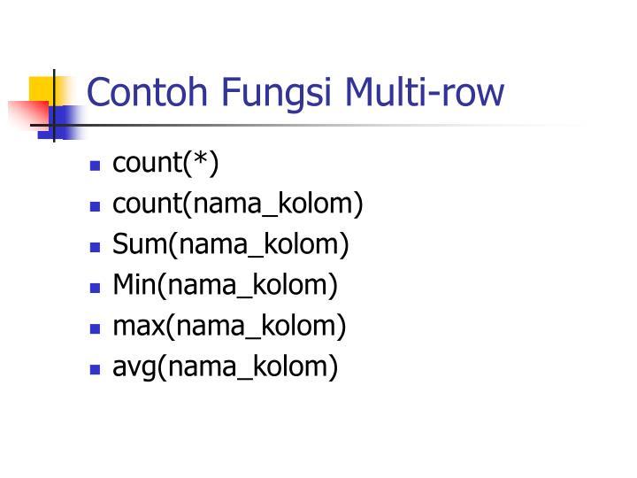 Contoh Fungsi Multi-row