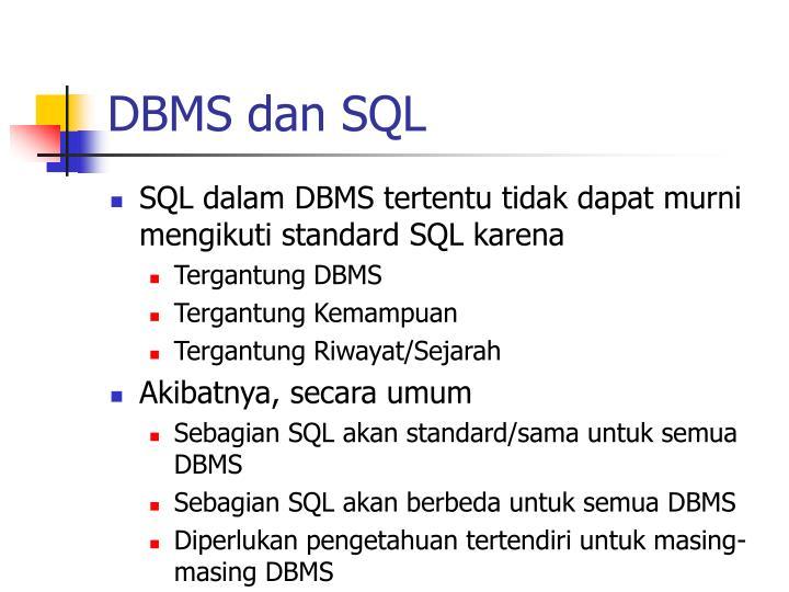 DBMS dan SQL