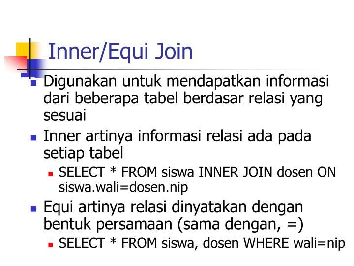 Inner/Equi Join