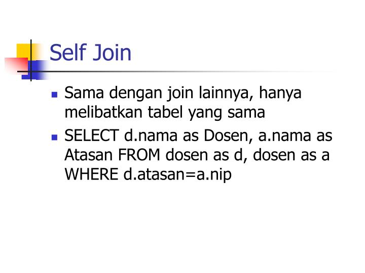 Self Join