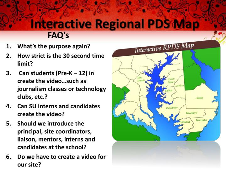 Interactive regional pds map