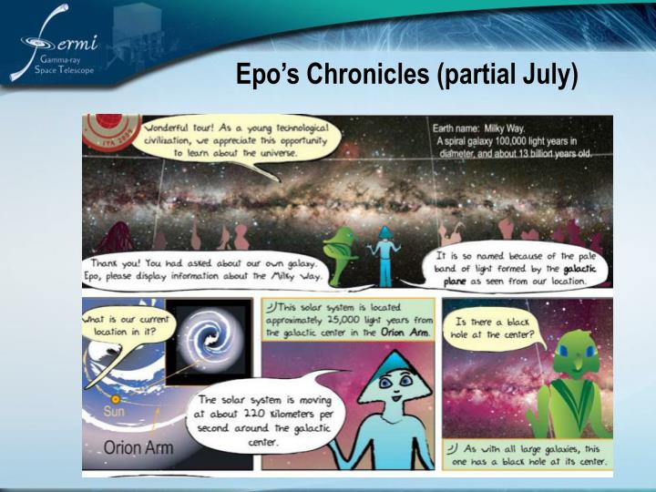 Epo's Chronicles (partial July)