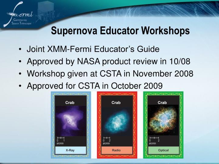 Supernova Educator Workshops