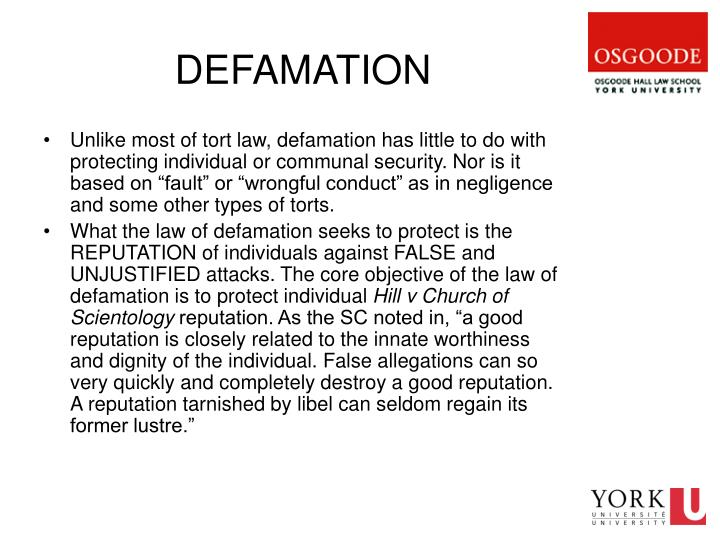 defamation notes