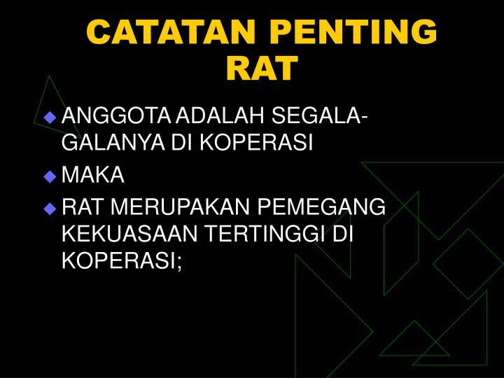 CATATAN PENTING RAT