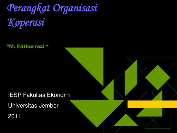 Perangkat organisasi koperasi m fathorrazi