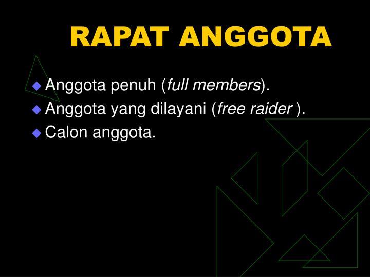 RAPAT ANGGOTA