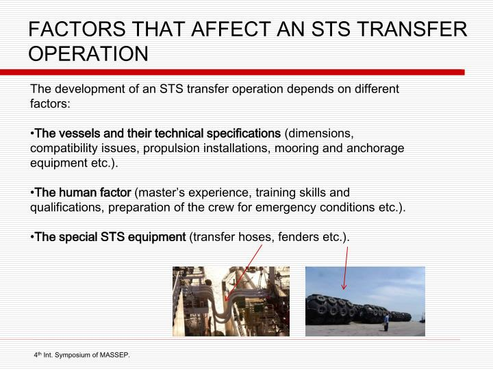 FACTORS THAT AFFECT AN STS TRANSFER OPERATION