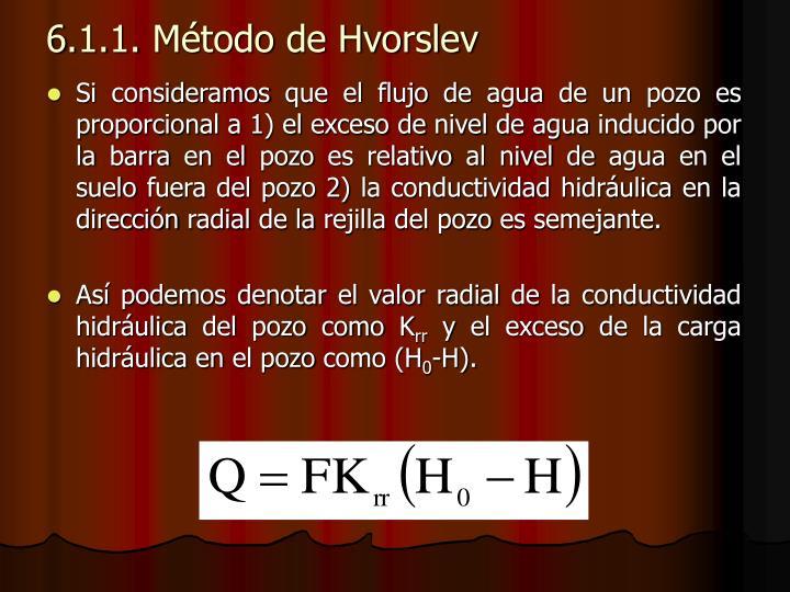 6.1.1. Método de Hvorslev