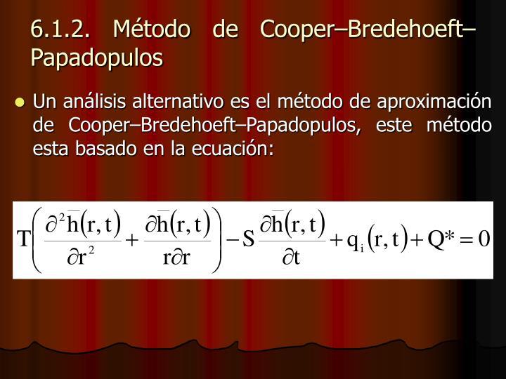 6.1.2. Método de Cooper–Bredehoeft–Papadopulos