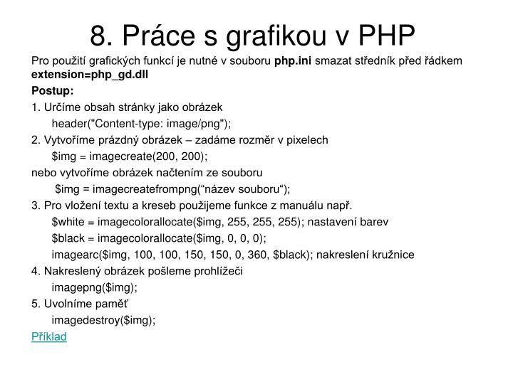 8. Práce s grafikou v PHP