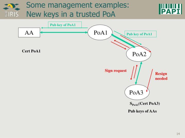 Pub key of PoA1
