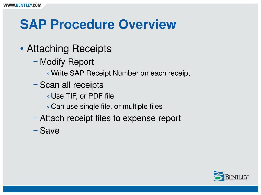 PPT - SAP Expense Report Procedure PowerPoint Presentation - ID:4727070