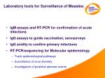 laboratory tools for surveillance of measles
