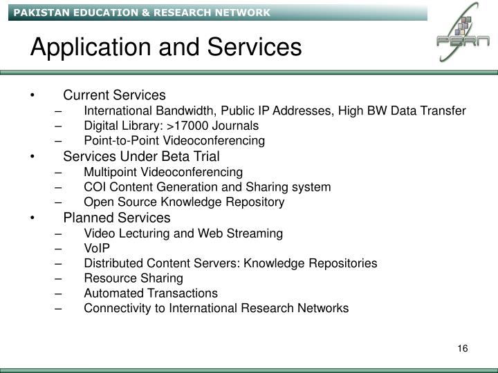 Application and Services
