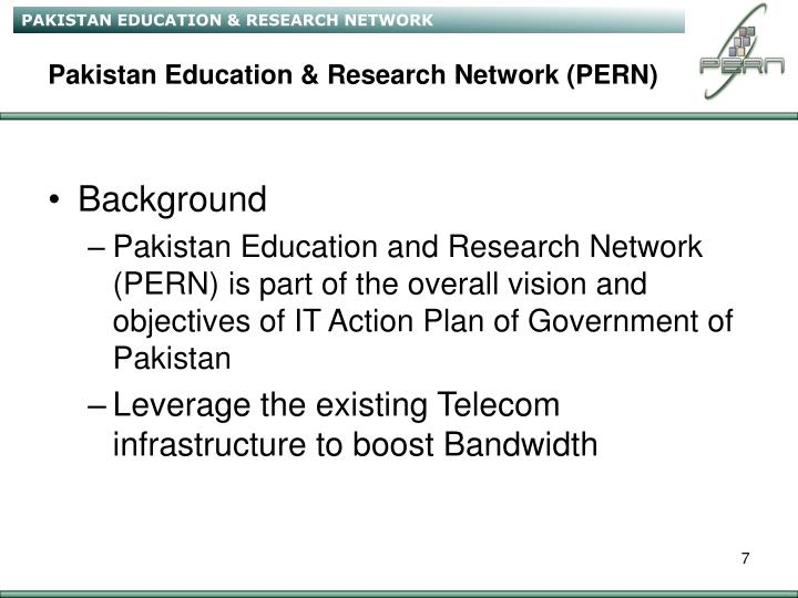 Pakistan Education & Research Network (PERN)