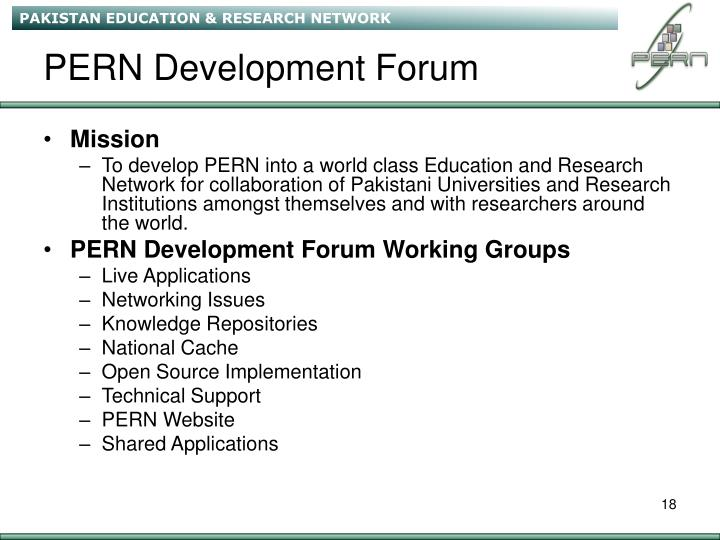 PERN Development Forum