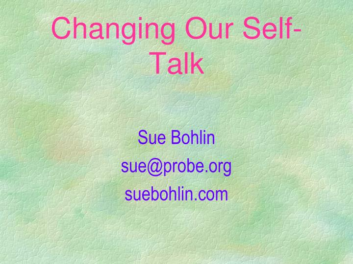 changing our self talk n.