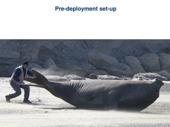 Pre-deployment set-up