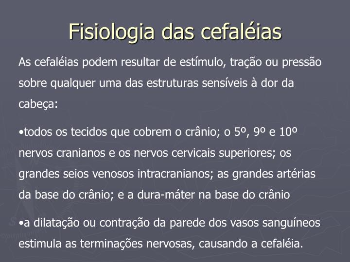 Fisiologia das cefaléias