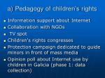 a pedagogy of children s rights