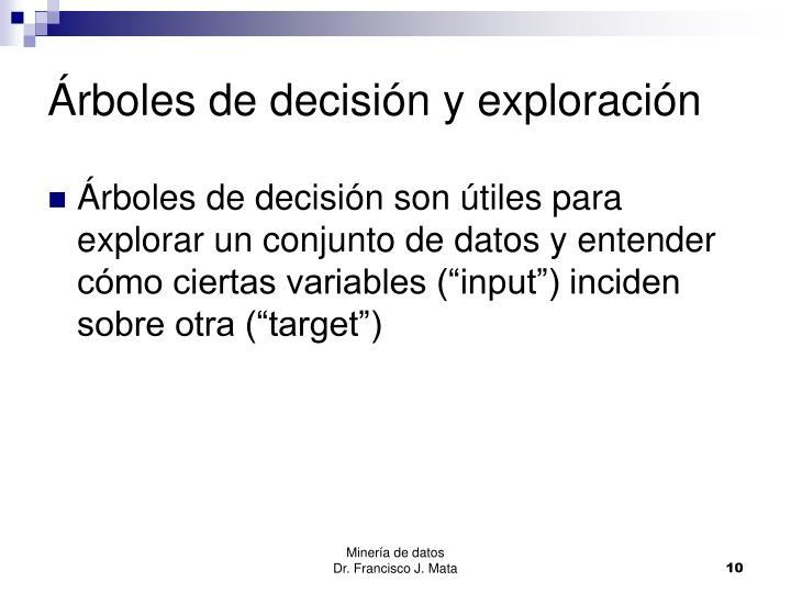 Árboles de decisión y exploración