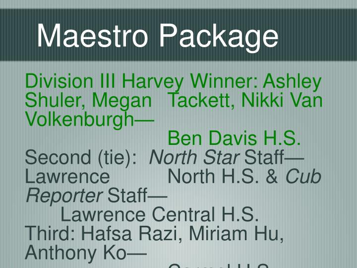 Maestro Package
