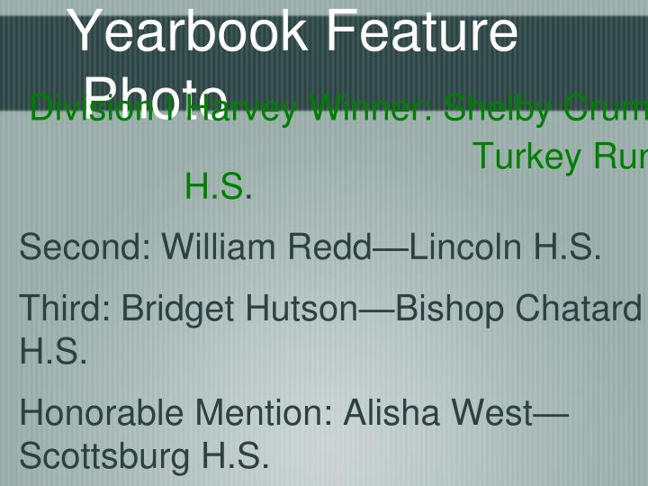 Yearbook Feature Photo