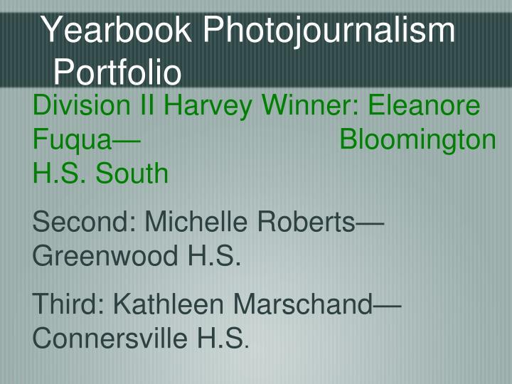Yearbook Photojournalism Portfolio