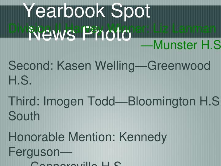 Yearbook Spot News Photo