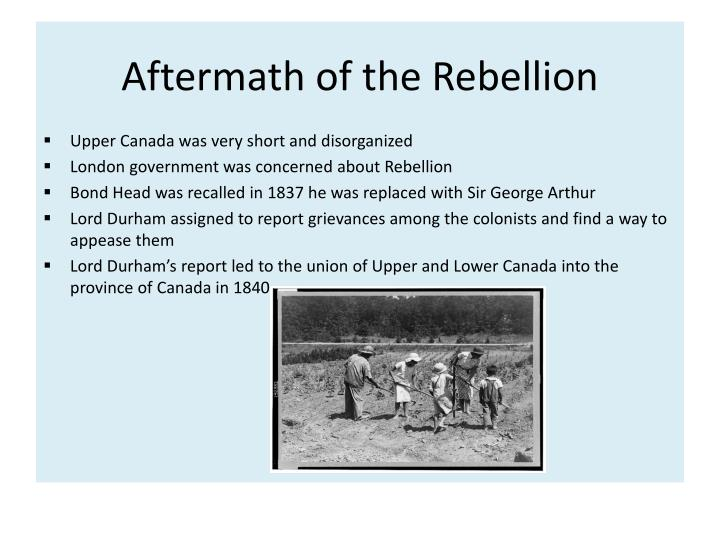 Aftermath of the Rebellion