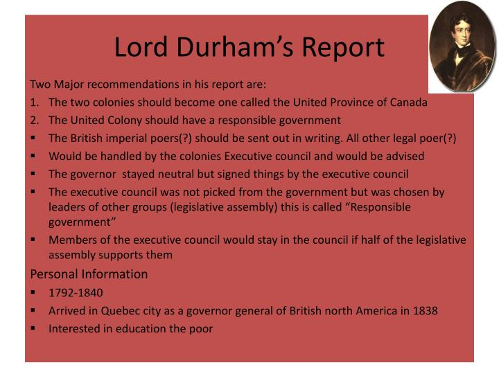 Lord Durham's Report
