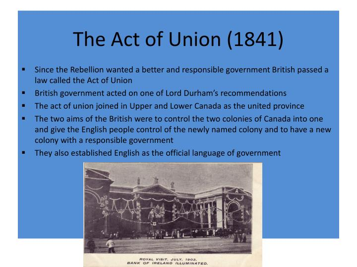 The Act of Union (1841)