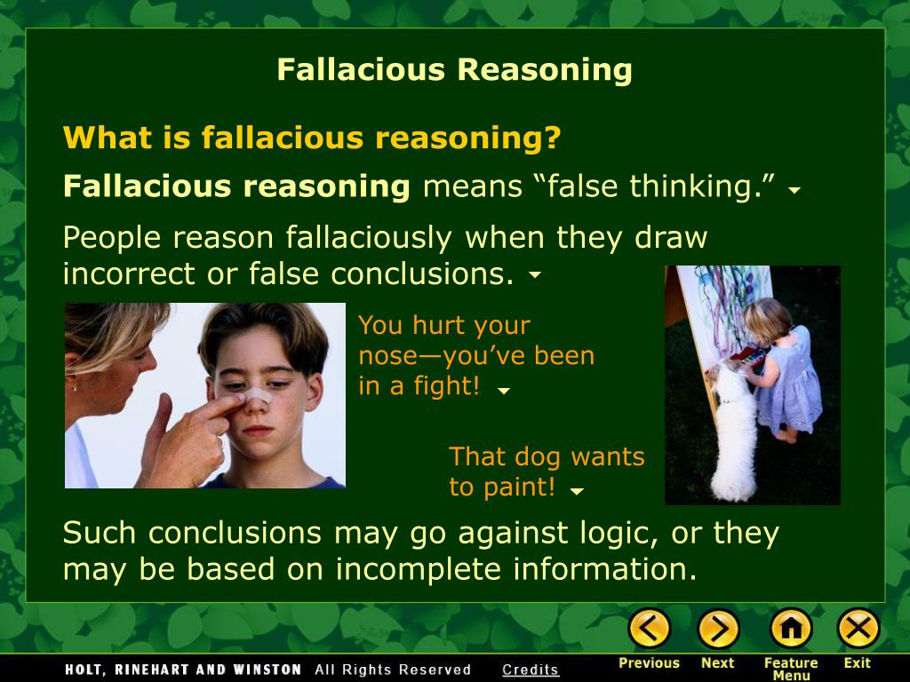 PPT - What Is Fallacious Reasoning? Why Identify ...