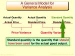 a general model for variance analysis2